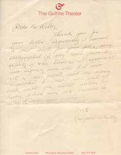 MARGARET WHITTON - AUTOGRAPH LETTER SIGNED CIRCA 1980
