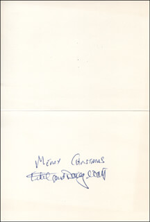 DOUGLAS WATT - CHRISTMAS / HOLIDAY CARD SIGNED