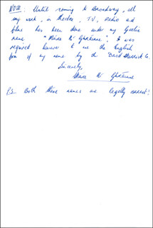 MAIRE NI GHRAINNE - AUTOGRAPH LETTER SIGNED