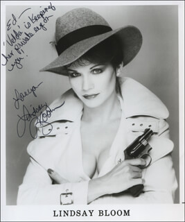 LINDSAY BLOOM - AUTOGRAPHED INSCRIBED PHOTOGRAPH