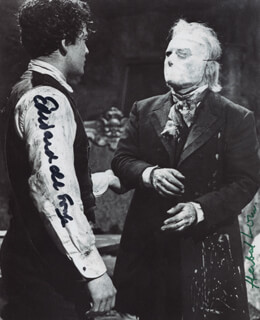 THE PHANTOM OF THE OPERA MOVIE CAST - AUTOGRAPHED SIGNED PHOTOGRAPH CO-SIGNED BY: HERBERT LOM, EDWARD DE SOUZA