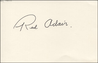 Autographs: RED ADAIR - SIGNATURE(S)