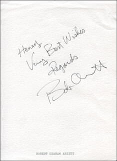 Autographs: ROBERT GRAHAM ANSETT - AUTOGRAPH NOTE SIGNED