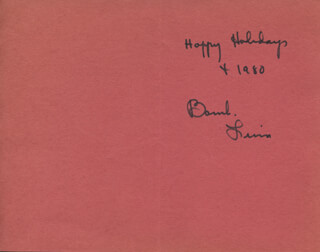 BAMBI LINN - CHRISTMAS / HOLIDAY CARD SIGNED CIRCA 1979