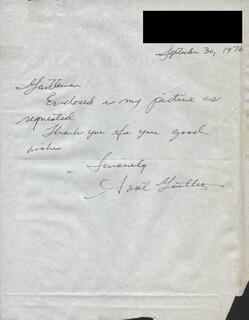 AVRIL GENTLES - AUTOGRAPH LETTER SIGNED 09/30/1976