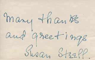 SUSAN STEELL - AUTOGRAPH SENTIMENT SIGNED