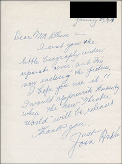JOAN C. ANDRE - AUTOGRAPH LETTER SIGNED 01/23/1947