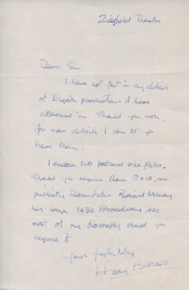 HARRY ANDREWS - AUTOGRAPH LETTER SIGNED