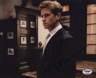 ARMIE HAMMER - AUTOGRAPHED SIGNED PHOTOGRAPH