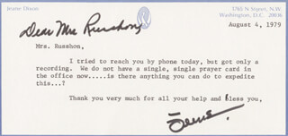 JEANE DIXON - TYPED LETTER SIGNED 08/04/1979
