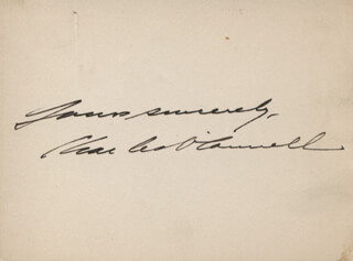 CHARLES O'CONNELL - AUTOGRAPH SENTIMENT SIGNED