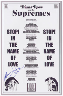 Autographs: THE SUPREMES (MARY WILSON) - POSTER SIGNED
