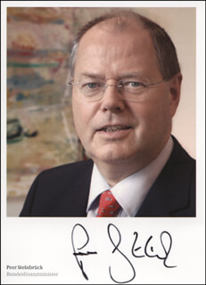 PEER STEINBRUCK - AUTOGRAPHED SIGNED PHOTOGRAPH