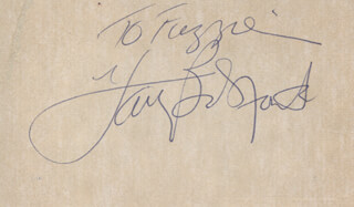 HARRY BELAFONTE - AUTOGRAPH NOTE SIGNED