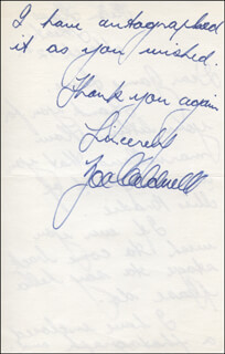 ZOE CALDWELL - AUTOGRAPH LETTER SIGNED 03/12/1968