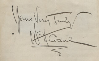 WILLIAM H. CRANE - AUTOGRAPH SENTIMENT SIGNED