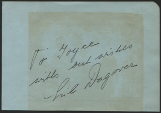 LIL DAGOVER - AUTOGRAPH NOTE SIGNED