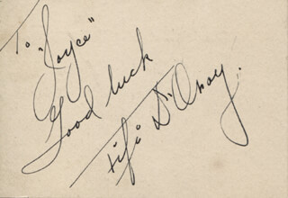 FIFI D'ORSAY - AUTOGRAPH NOTE SIGNED