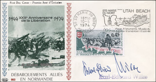 MAJOR GENERAL KARL-EDUARD WILKE - FIRST DAY COVER SIGNED