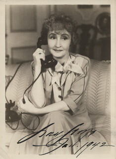 GRACE GEORGE - AUTOGRAPHED SIGNED PHOTOGRAPH 01/1942
