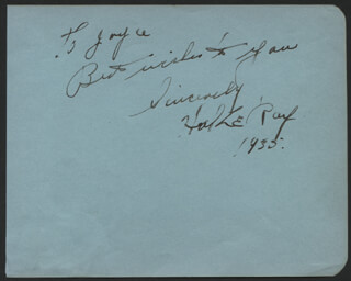 HAL LE ROY - AUTOGRAPH NOTE SIGNED 1935
