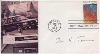 CHARLES H. TOWNES - FIRST DAY COVER SIGNED