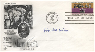 PRIME MINISTER HAROLD WILSON (GREAT BRITAIN) - FIRST DAY COVER SIGNED