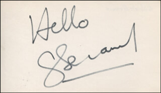 GILBERT BECAUD - AUTOGRAPH SENTIMENT SIGNED