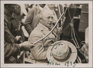 CARL HOFFMANN - AUTOGRAPHED SIGNED PHOTOGRAPH 1933