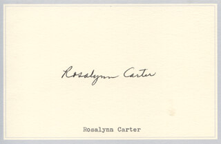 Autographs: FIRST LADY ROSALYNN CARTER - SIGNATURE(S)