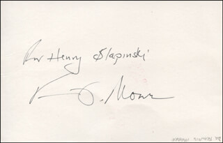 FRANCIS D. MOORE - INSCRIBED SIGNATURE 12/27/1989