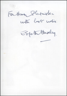 ELSPETH HUXLEY - AUTOGRAPHED INSCRIBED PHOTOGRAPH
