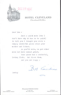 ROBERT CONSIDINE - TYPED LETTER SIGNED 12/22/1954