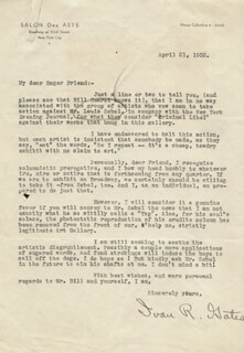 IVAN R. GATES - TYPED LETTER SIGNED 04/21/1932