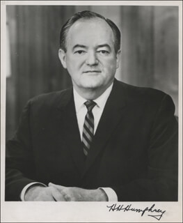 VICE PRESIDENT HUBERT H. HUMPHREY - AUTOGRAPHED SIGNED PHOTOGRAPH