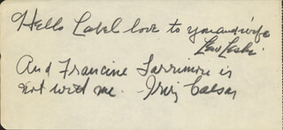IRVING CAESAR - AUTOGRAPH NOTE SIGNED CO-SIGNED BY: LEW LESKI