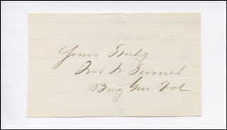 Autographs: MAJOR GENERAL JOHN W. TURNER - AUTOGRAPH SENTIMENT SIGNED