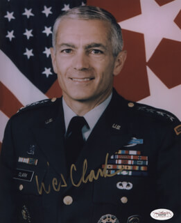 GENERAL WESLEY CLARK - AUTOGRAPHED SIGNED PHOTOGRAPH
