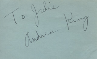 ANDREA KING - INSCRIBED SIGNATURE