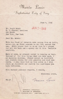 MARVA LOUIS SPAULDING - TYPED LETTER SIGNED 06/06/1944