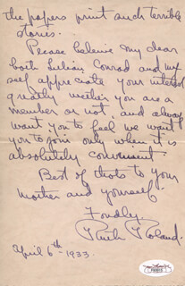 RUTH ROLAND - AUTOGRAPH LETTER SIGNED 04/06/1933
