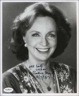 BEATRICE STRAIGHT - AUTOGRAPHED SIGNED PHOTOGRAPH 09/07/1987