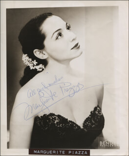 MARGUERITE PIAZZA - AUTOGRAPHED SIGNED PHOTOGRAPH