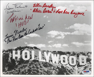 JOAN FONTAINE - AUTOGRAPHED SIGNED PHOTOGRAPH CO-SIGNED BY: ELLEN BURSTYN, PATRICIA NEAL, LOUISE FLETCHER
