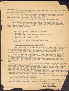 NAT J. FERBER - TYPED LETTER SIGNED