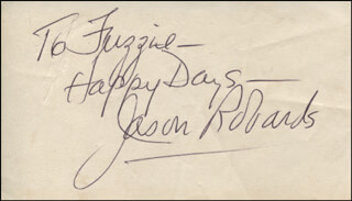 JASON ROBARDS JR. - AUTOGRAPH NOTE SIGNED