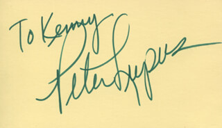 PETER LUPUS - INSCRIBED SIGNATURE