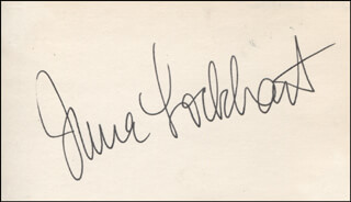 JUNE LOCKHART - AUTOGRAPH  - HFSID 317703