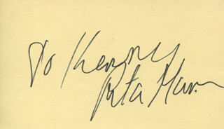 RITA GAM - INSCRIBED SIGNATURE