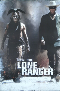 THE LONE RANGER MOVIE CAST - COLLECTION WITH LONE RANGER TV CAST , CLAYTON THE LONE RANGER MOORE, JOHNNY DEPP, JAY TONTO SILVERHEELS, ARMIE HAMMER